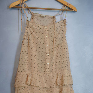 xs Free people sheer baby doll dress